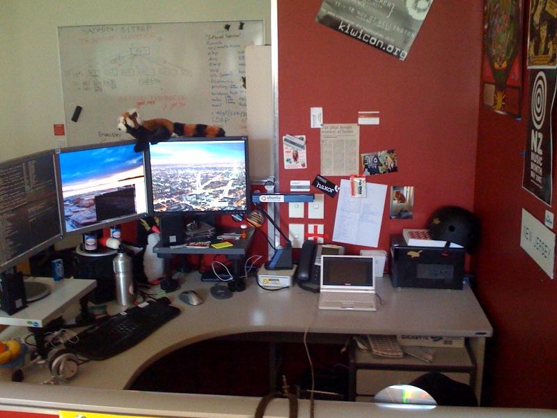 My desk, at work!